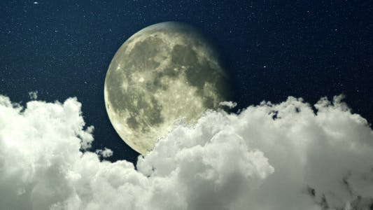 Thumbnail for Night Sky Panorama - Clouds And The Moon