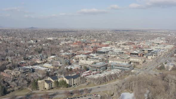 Thumbnail for Boulder Colorado Aerial Establishing Shot Cityscape