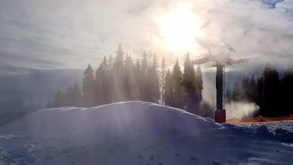 Thumbnail for Snow Cannon at a Ski Resort