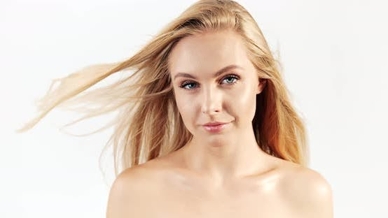 Thumbnail for Blonde Woman Smiling Windy Hair
