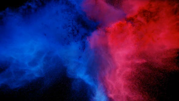 Thumbnail for Blue-Red Exploding Color Powder