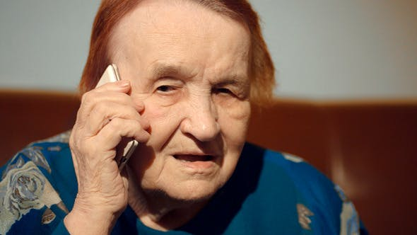 Thumbnail for Elderly Woman Talking On The Cell Phone
