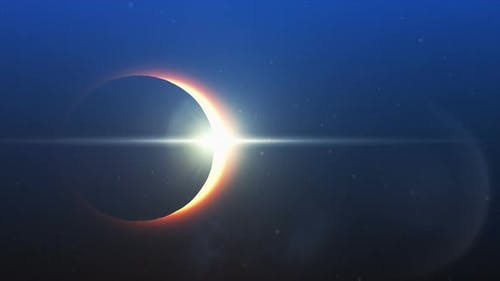 Solar eclipse in the sky