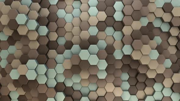 Hexagon Background Vintage Car