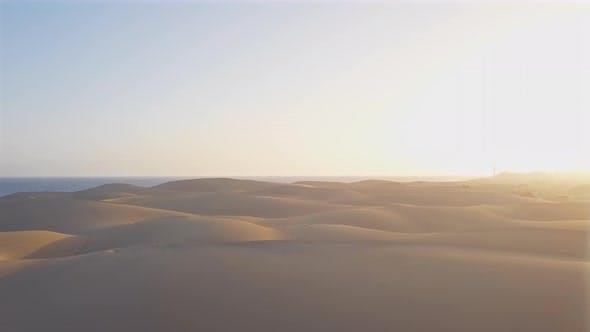 Aerial View of Maspalomas Sand Dunes, Gran Canaria