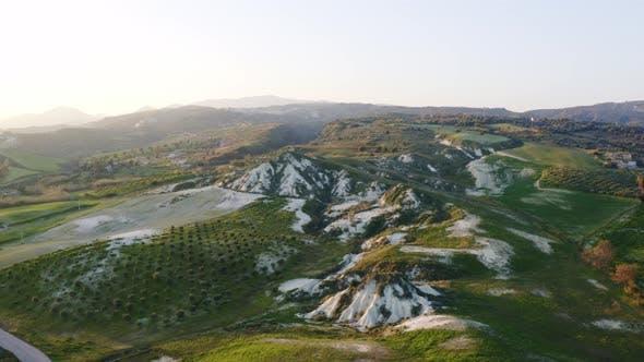 Hügel in den italienischen Ebenen