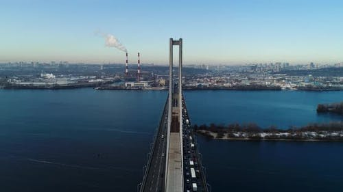 Aerial View of South Subway Cable Bridge