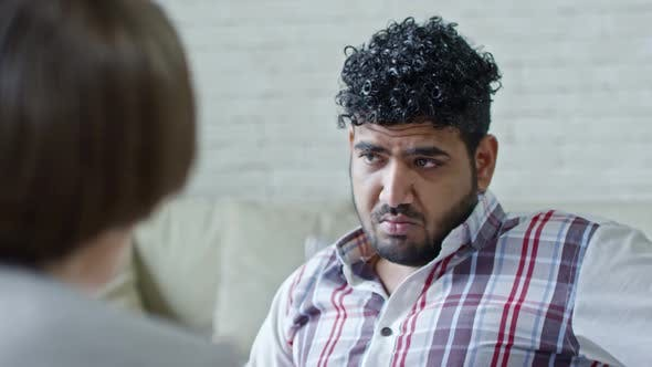 Thumbnail for Arab Male Patient Talking to Psychotherapist