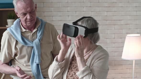 Thumbnail for Ecstatic Senior Woman in VR Headset