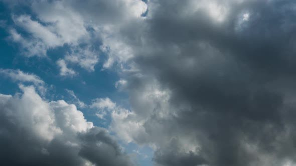 Thumbnail for Clouds Move Rapidly Against a Blue Sky on a Bright Sunny Day