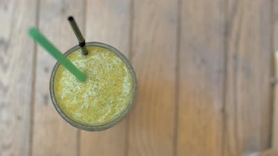 Glass of mint smoothie