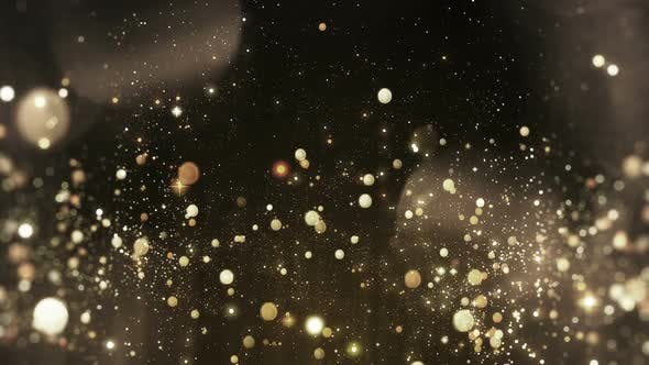 Gold Light Particle