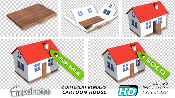 Thumbnail for Real Estate House, Cartoon Style