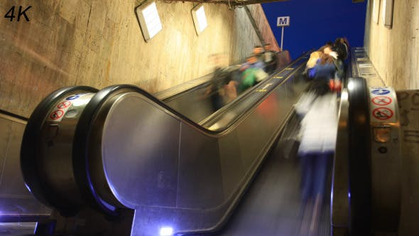 Thumbnail for Commuters On Subway Escalator