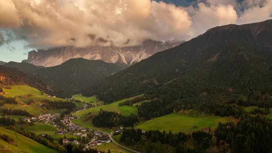 Thumbnail for Santa Maddalena Village in Front of the Geisler, Val Di Funes, Italy, Europe
