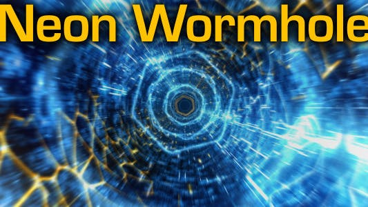 Cover Image for Neon Wormhole - hi-tech tunnel flythrough