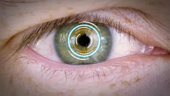 Thumbnail for Close Up of Male Eye with Iris or Retinal Scan 16