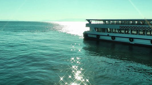 Thumbnail for Sunlight Reflection On The Sea Water And Ferryboat