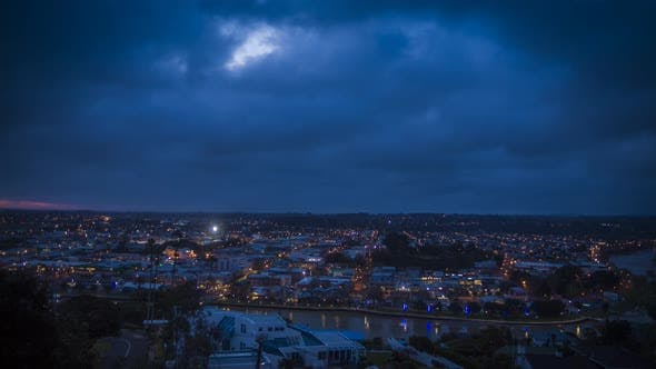 Evening in Whanganui New Zealand