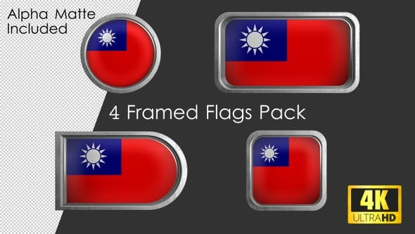 Thumbnail for Framed Taiwan Flag Pack