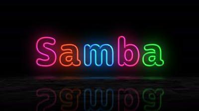 Samba glowing neon 3d lights