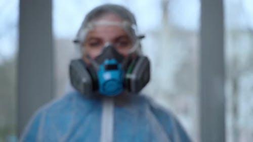 Concept of Coronavirus Quarantine, Global Covid-19 Epidemic. Treatment of Infection. Medic in Hazrat