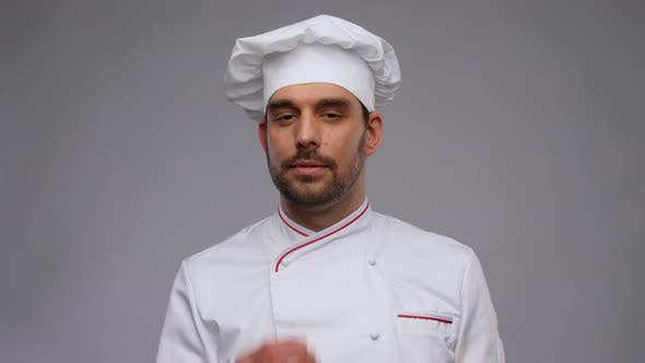 Happy Smiling Male Chef in Toque