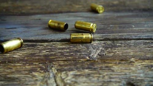 Bullet casings from a 5mm pistol