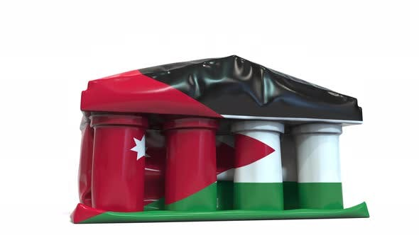 Thumbnail for Deflating Bank or Government Building with Flag of Jordan
