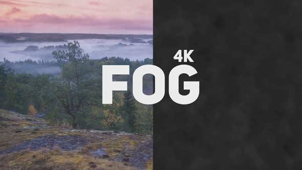 4k Fog Looped Overlay