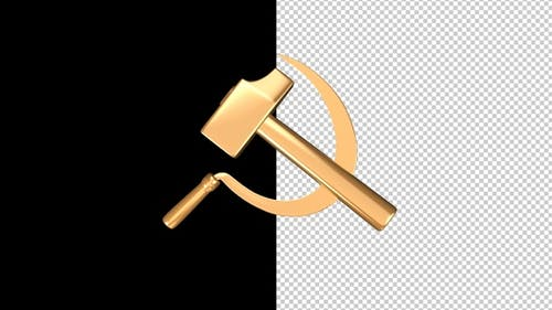 Hammer and Sickle - Gold - Flying Transition