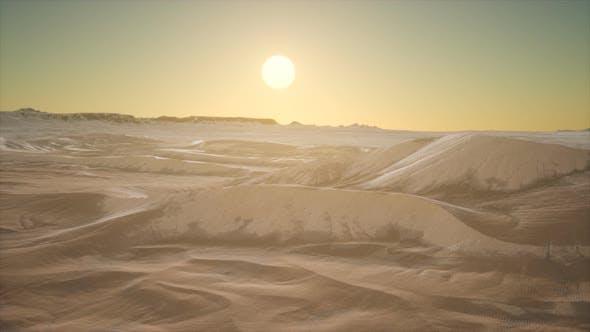 Thumbnail for Red Sand Desert Dunes at Sunset