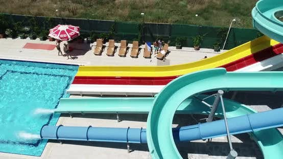 Thumbnail for Aquapark And People Aerial View