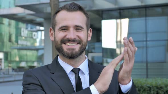 Thumbnail for Applauding Successful Businessman Clapping