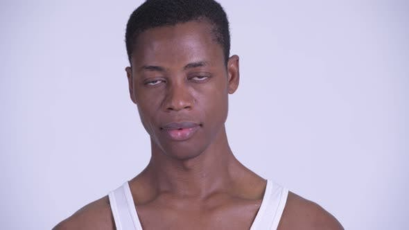 Thumbnail for Face of Young Stressed African Man Looking Sad and Depressed
