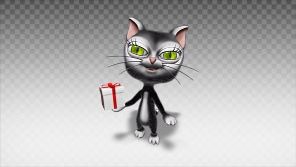 Thumbnail for Cartoon Kitty Cat - Show Present