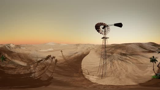 Thumbnail for Vr 360 Camera Moving Above Desert. Ready for Use in Vr360 Virtual Reality