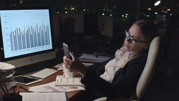 Thumbnail for Woman Tired of Doing Financial Report