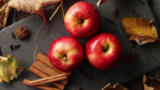 Thumbnail for Ripe Apples and Cinnamon Sticks