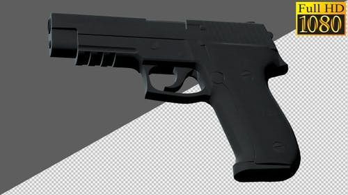 Guns, Pistols, Handguns On Alpha Channel Loops V1