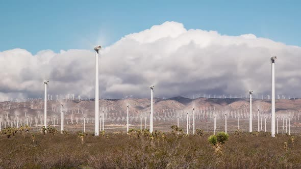 Solar And Wind Power Station In The Desert