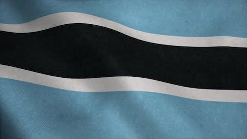 Botswana National Flag Background
