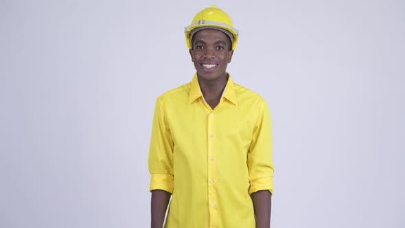 Thumbnail for Young Happy African Businessman As Engineer Smiling
