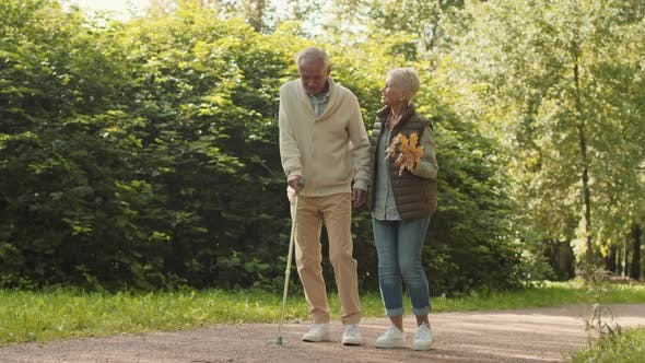 Thumbnail for Wife and Husband with Cane Walking