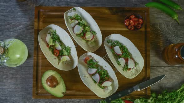 Thumbnail for Fish Tacos Being Prepared