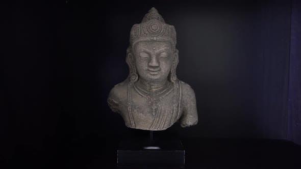 Thumbnail for Buddha Head Stone Statue