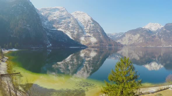 Thumbnail for Amazing Mountain Landscape for Recreation, Blue Sky, Reflection in Water Surface