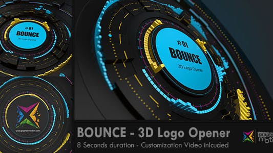 Thumbnail for BOUNCE  - 3D Logo Opener