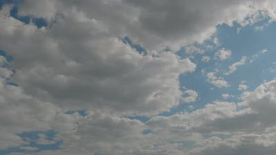 Timelapse. Motion Clouds on Blue Sky. Blue Sky. Clouds. Blue Sky with White Clouds.