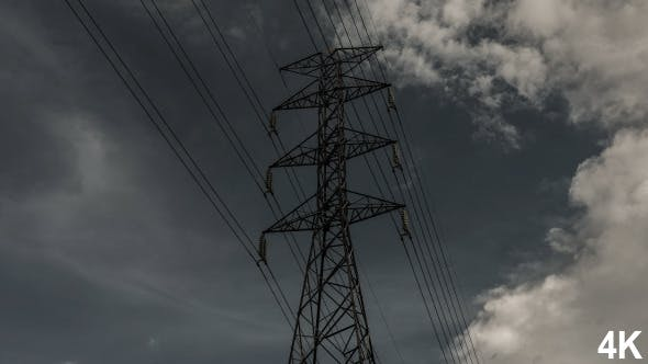Thumbnail for Electric Pole And Cloudy